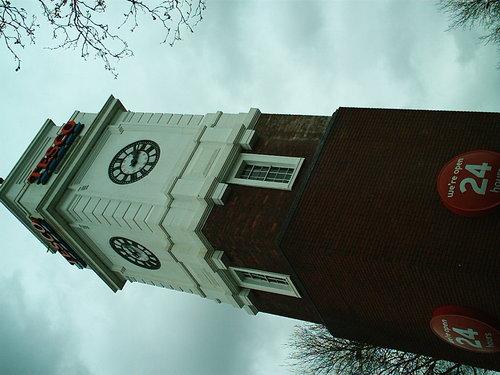 Tesco's clock tower, Didsbury